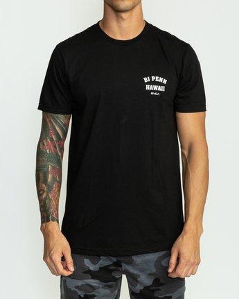 2 BJ Penn Square Up T-Shirt Black M401SRSQ RVCA