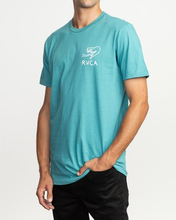 3 Pommier Eternal Struggle T-Shirt Blue M401TRET RVCA