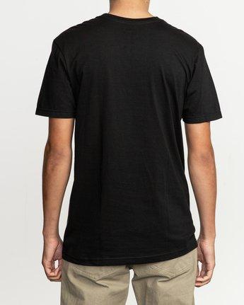 3 Fill All The Way T-Shirt Black M401TRFI RVCA
