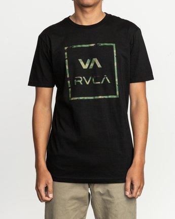 1 Fill All The Way T-Shirt Black M401TRFI RVCA