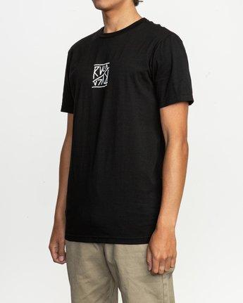 3 Flipper T-Shirt Black M401TRFL RVCA
