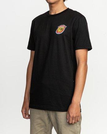 3 Dmote Jetty Lips T-Shirt Black M401TRJE RVCA