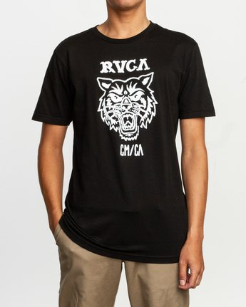 1 Dmote Mascot T-Shirt Black M401TRMA RVCA