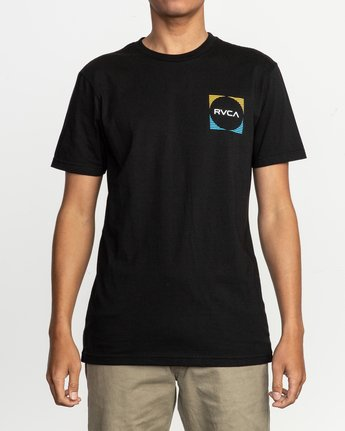 2 Motorstripe T-Shirt Black M401TRMS RVCA