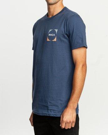 3 Motorstripe T-Shirt Blue M401TRMS RVCA