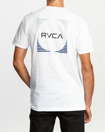 4 Motorstripe T-Shirt White M401TRMS RVCA