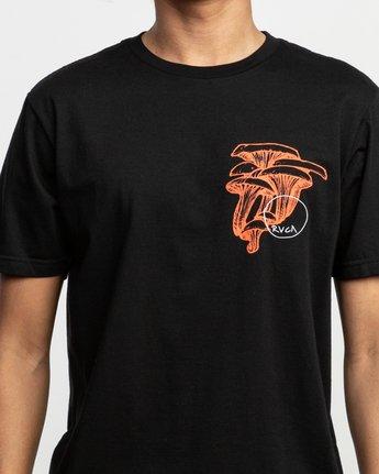 6 Sage Vaughn Shroom Collage T-Shirt Black M401TRSH RVCA