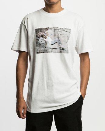 2 Christian Hosoi Oblow Layback T-Shirt White M410SRHS RVCA