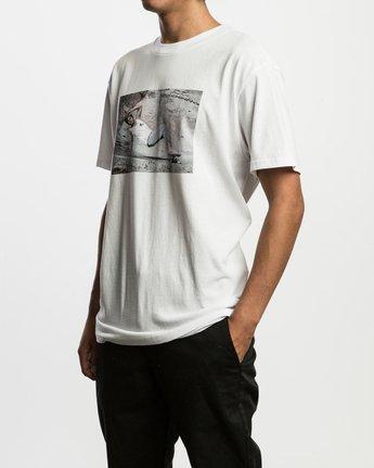 3 Christian Hosoi Oblow Layback T-Shirt White M410SRHS RVCA
