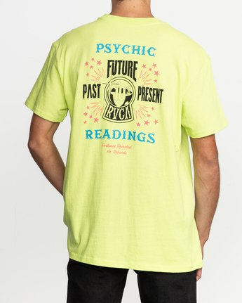 4 Dmote Psychic T-Shirt Yellow M410TRPS RVCA