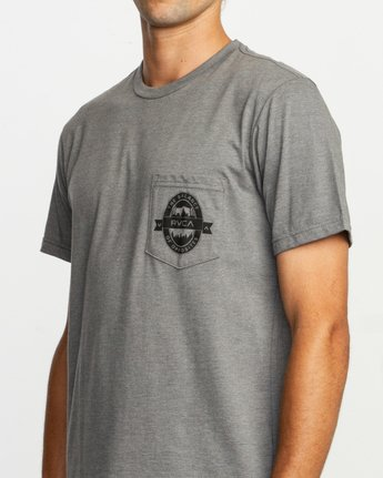 5 Barley T-Shirt Grey M412TRBA RVCA