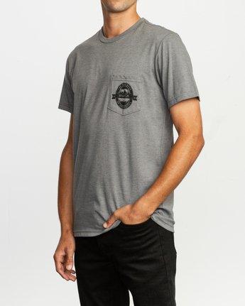 3 Barley T-Shirt Grey M412TRBA RVCA