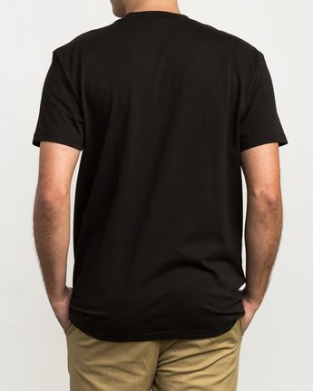 3 Day Shift Label Pocket T-Shirt Black M414SRDE RVCA