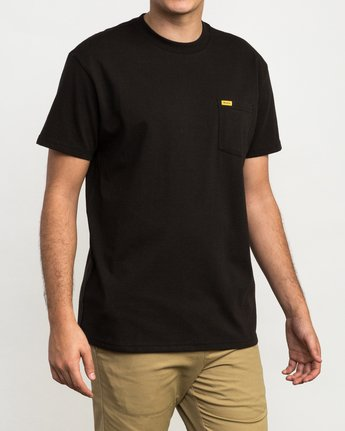 2 Day Shift Label Pocket T-Shirt Black M414SRDE RVCA