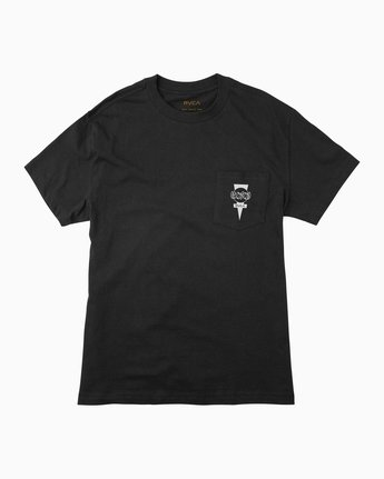 1 Christian Hosoi Dayshift Pocket T-Shirt Black M414SRHS RVCA