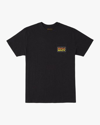 0 Toe Shift T-Shirt Black M414TRTO RVCA