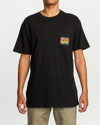 1 Toe Shift T-Shirt Black M414TRTO RVCA