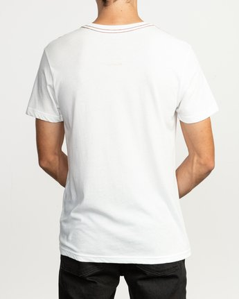 3 Sage Vaughn T-Shirt White M420TRVA RVCA