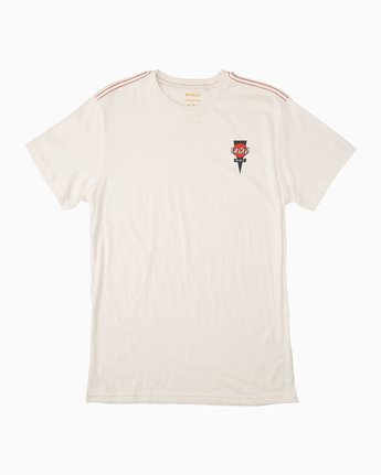 1 Christian Hosoi Short Sleeve T-Shirt White M422NRHS RVCA