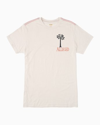 0 Alleged Margaret Tree T-Shirt White M422QRAT RVCA