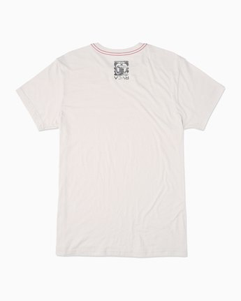 1 BJ Penn Box T-Shirt White M422SRPE RVCA