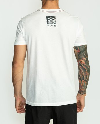 4 BJ Penn Box T-Shirt White M422SRPE RVCA