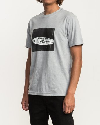 3 Campbell Brothers Freedom Of Choice T-Shirt Grey M426QRFR RVCA