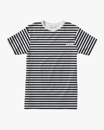 0 House Stripes T-Shirt White M430TRHO RVCA