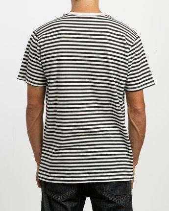 3 House Stripes T-Shirt White M430TRHO RVCA