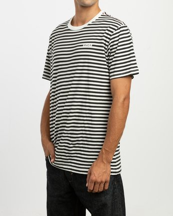 2 House Stripes T-Shirt White M430TRHO RVCA