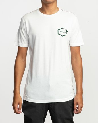 2 Islands Hex Hawaii T-Shirt White M430TRIS RVCA