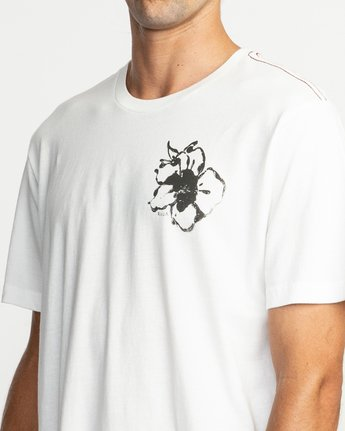 6 Sage Vaughn Mono Flower T-Shirt White M430TRMO RVCA
