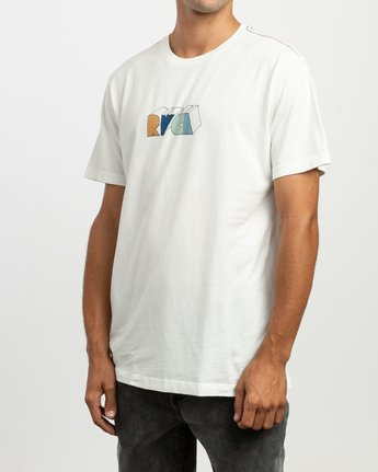 3 Perspect T-Shirt White M430TRPE RVCA