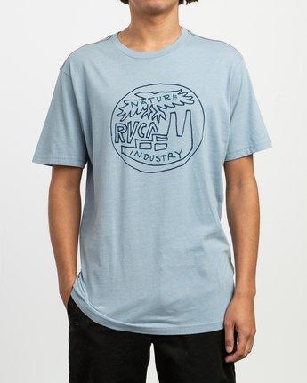 1 Rust Belt Embroidered T-Shirt Blue M430TRRU RVCA