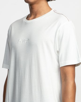 4 Small RVCA Embroidered T-Shirt White M430TRSM RVCA