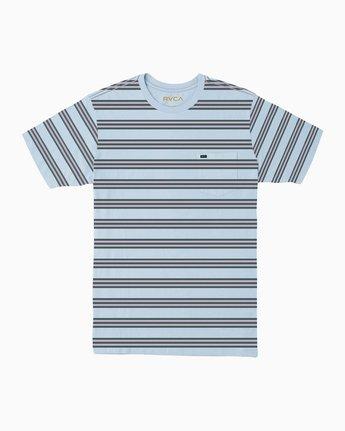 0 Ferris Striped T-Shirt Blue M436TRFE RVCA