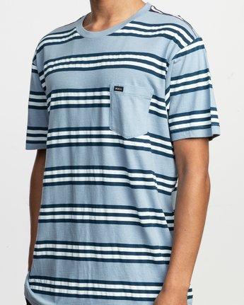 4 Ferris Striped T-Shirt Blue M436TRFE RVCA