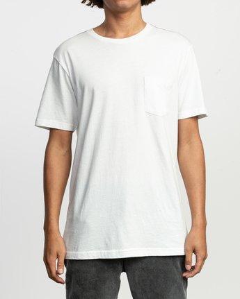 1 PTC Standard Wash Pocket T-Shirt White M436TRPT RVCA
