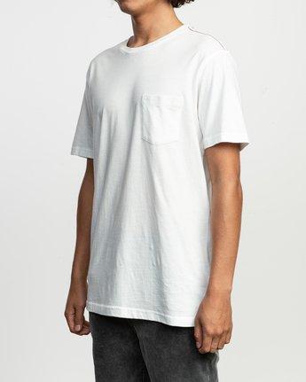 2 PTC Standard Wash Pocket T-Shirt White M436TRPT RVCA