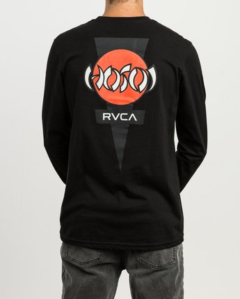 4 Christian Hosoi Long Sleeve T-Shirt Black M451SRHS RVCA