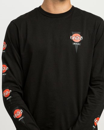5 Christian Hosoi Long Sleeve T-Shirt Black M451SRHS RVCA