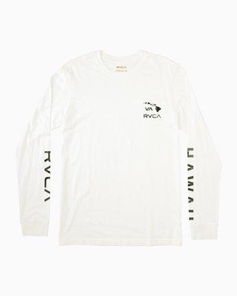 0 VA Islands Long Sleeve T-Shirt White M451SRIS RVCA