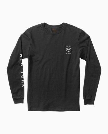 1 Hex Type NY Long Sleeve T-Shirt Black M451SRNE RVCA