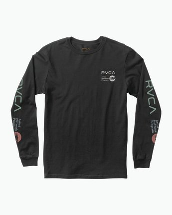 0 RVCA ANP Long Sleeve T-Shirt Black M451SRRV RVCA