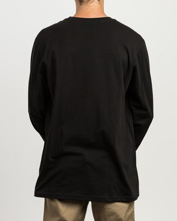 4 RVCA ANP Long Sleeve T-Shirt Black M451SRRV RVCA