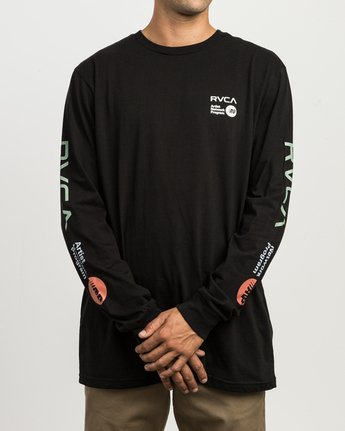 2 RVCA ANP Long Sleeve T-Shirt Black M451SRRV RVCA