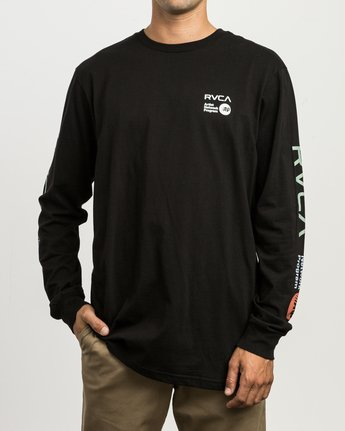 3 RVCA ANP Long Sleeve T-Shirt Black M451SRRV RVCA