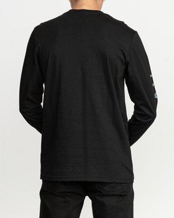 3 Segment Long Sleeve T-Shirt Black M451TRSE RVCA