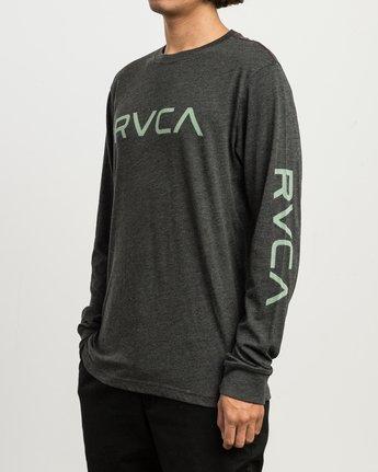 2 Big RVCA Long Sleeve T-Shirt Black M452SRBI RVCA