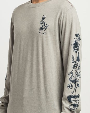 4 Pommier Sketchbook Long Sleeve T-Shirt Multicolor M452SRSK RVCA